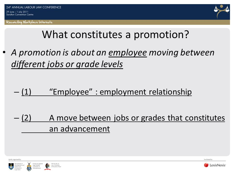 What constitutes a promotion