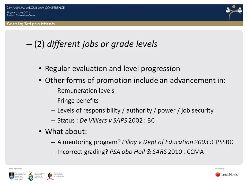 (2) different jobs or grade levels