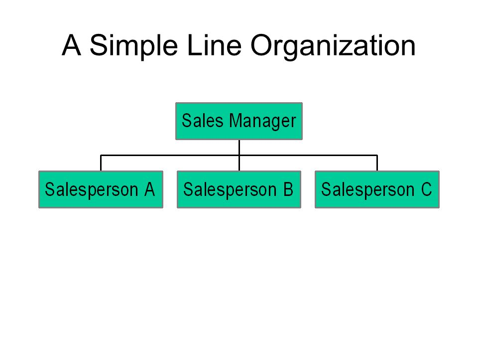 A Simple Line Organization