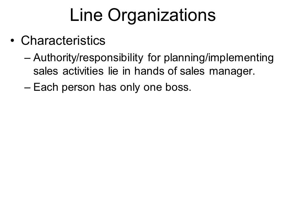 Line Organizations Characteristics