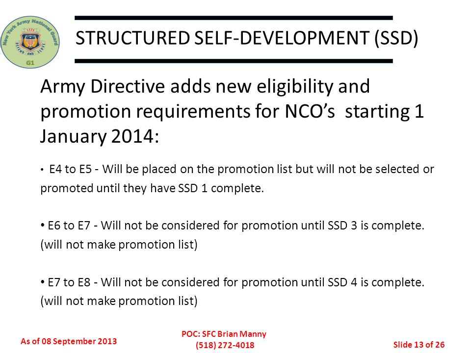STRUCTURED SELF-DEVELOPMENT (SSD)