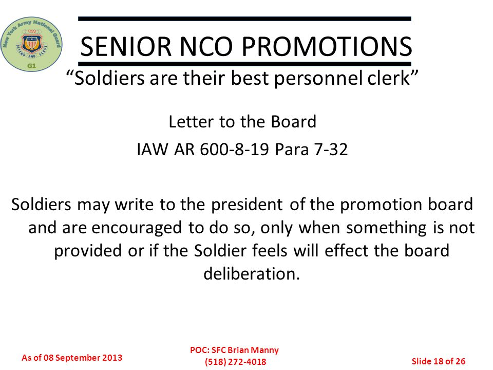 Soldiers are their best personnel clerk