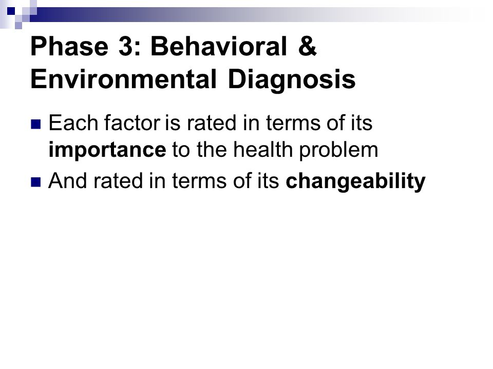 Phase 3: Behavioral & Environmental Diagnosis