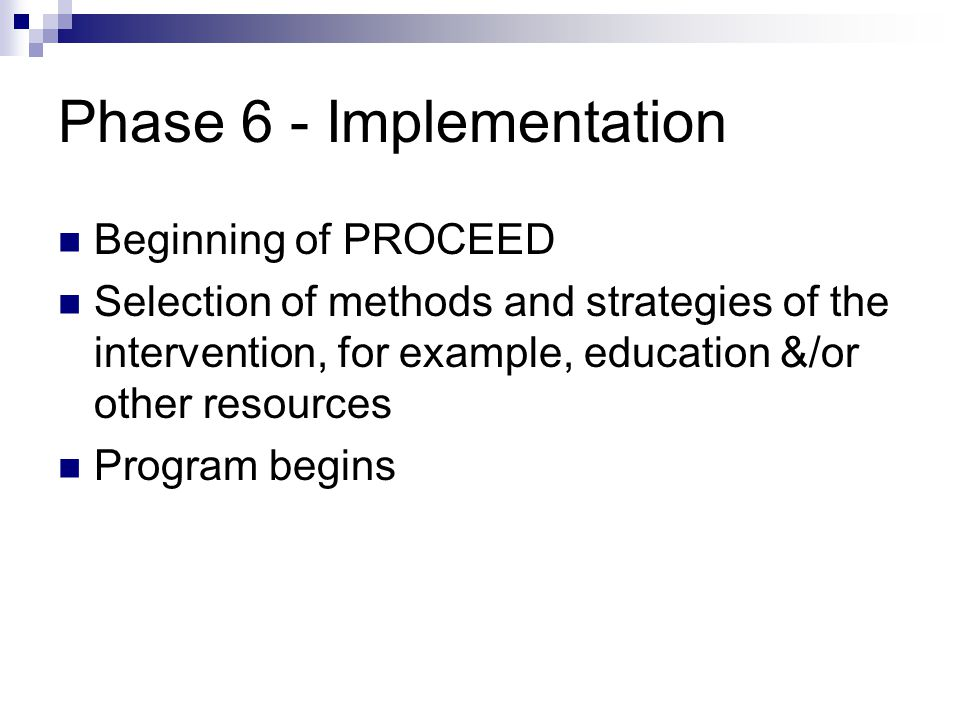 Phase 6 - Implementation