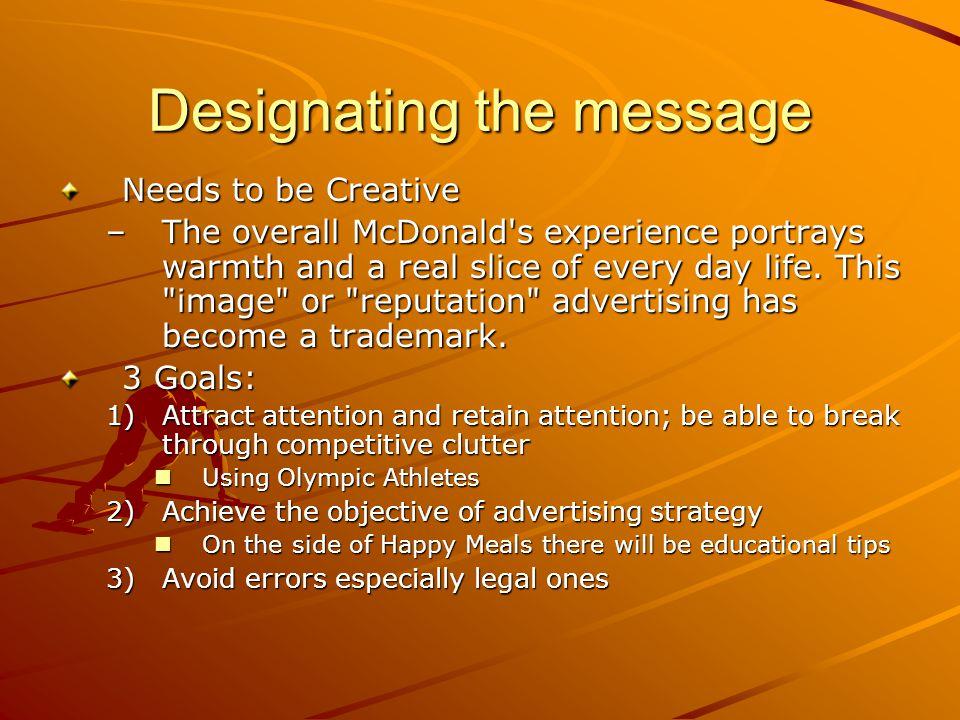 Designating the message