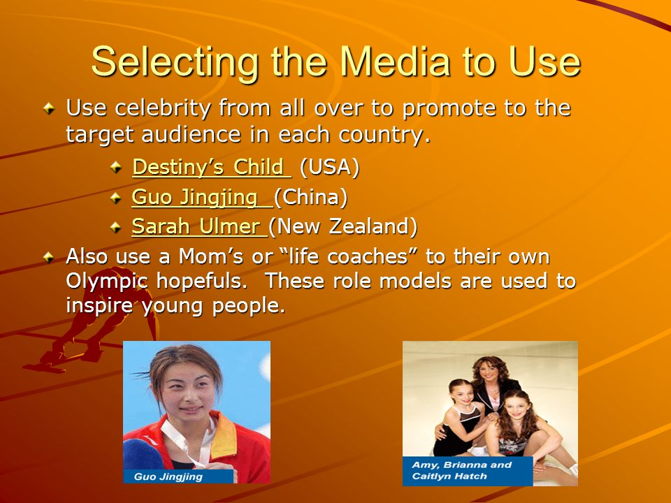 Selecting the Media to Use