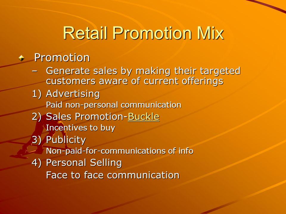 Retail Promotion Mix Promotion