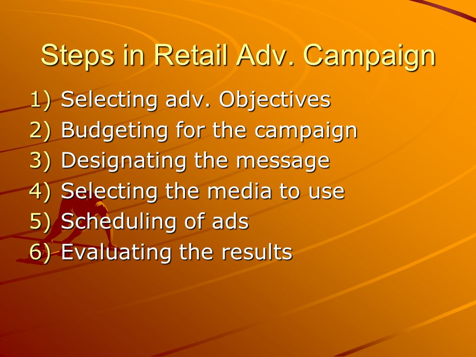 Steps in Retail Adv. Campaign