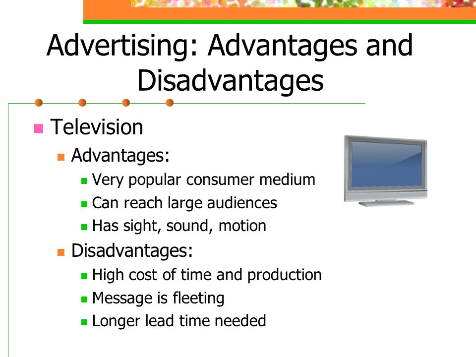 advantages disvantages about television
