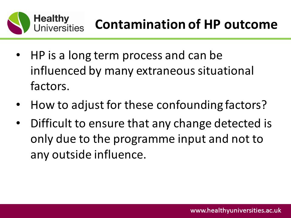 Contamination of HP outcome