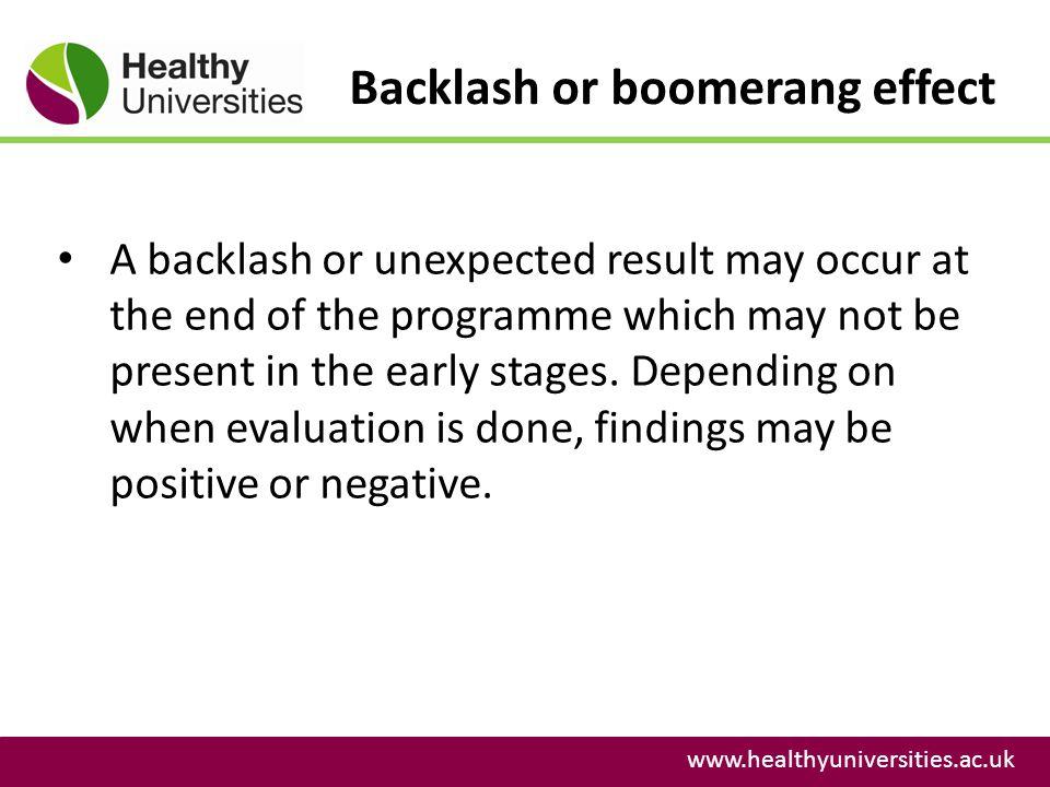 Backlash or boomerang effect