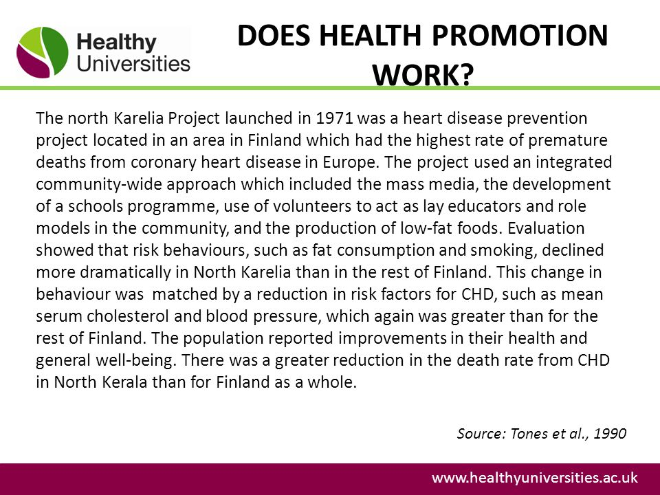 DOES HEALTH PROMOTION WORK