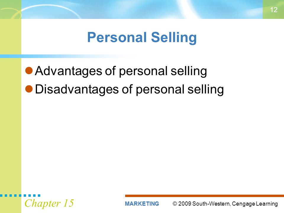 Personal Selling Advantages of personal selling