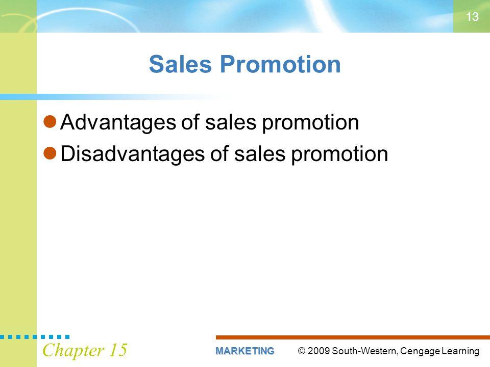 Sales Promotion Advantages of sales promotion
