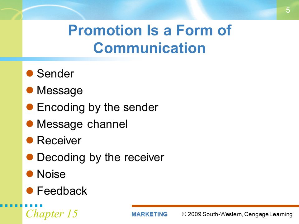 Promotion Is a Form of Communication