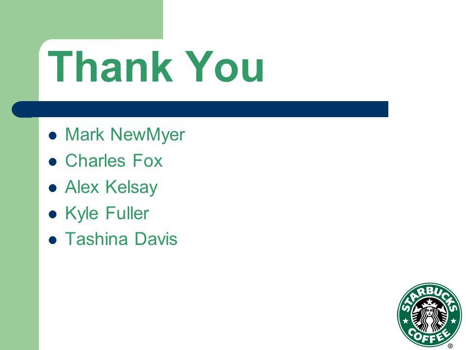 Thank You Mark NewMyer Charles Fox Alex Kelsay Kyle Fuller