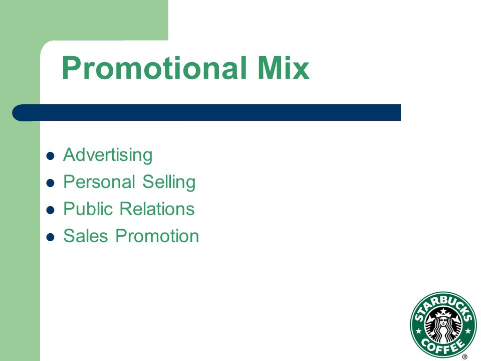 Promotional Mix Advertising Personal Selling Public Relations
