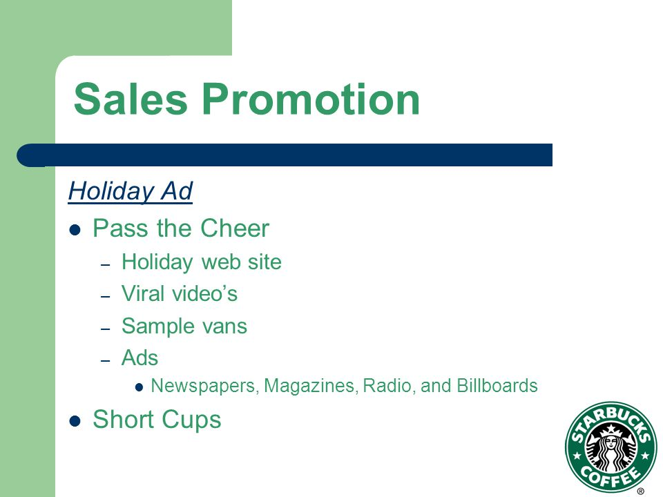 Sales Promotion Holiday Ad Pass the Cheer Short Cups Holiday web site