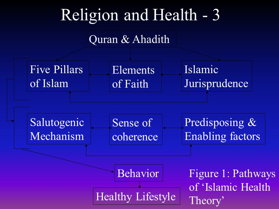 Religion and Health - 3 Quran & Ahadith Five Pillars of Islam Elements