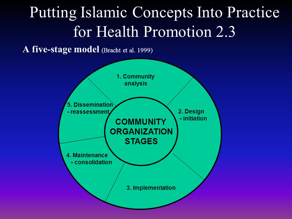 Putting Islamic Concepts Into Practice for Health Promotion 2.3