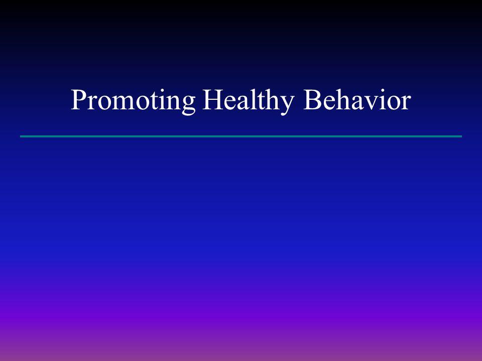 Promoting Healthy Behavior
