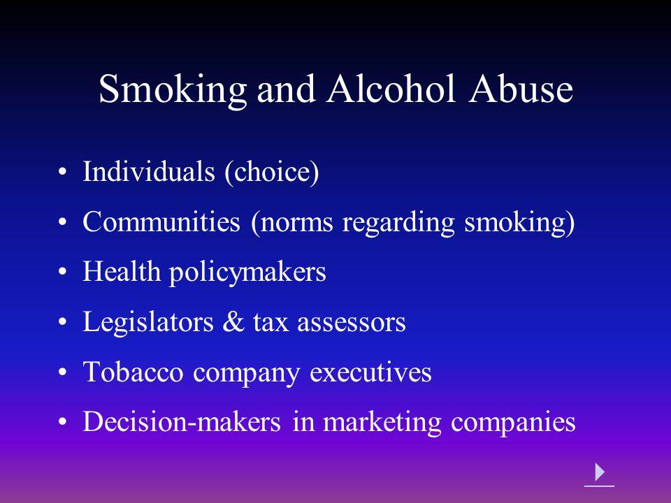 Smoking and Alcohol Abuse
