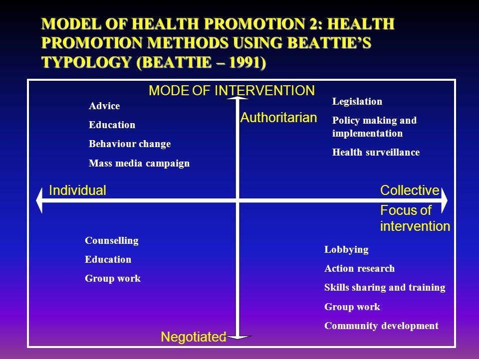 implementation methods of health promotion