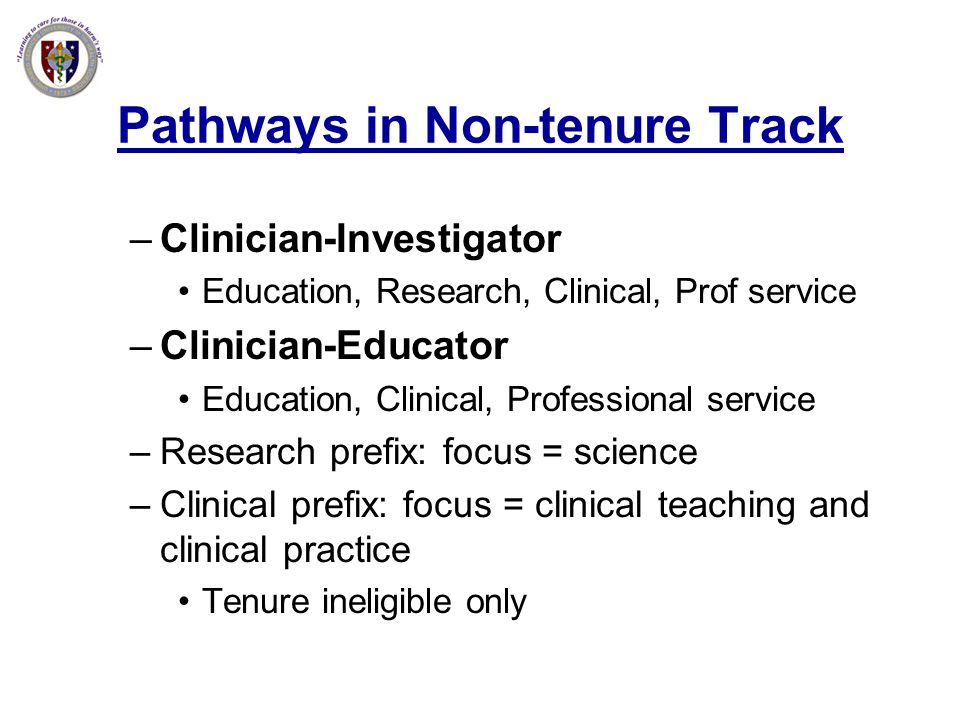 Pathways in Non-tenure Track
