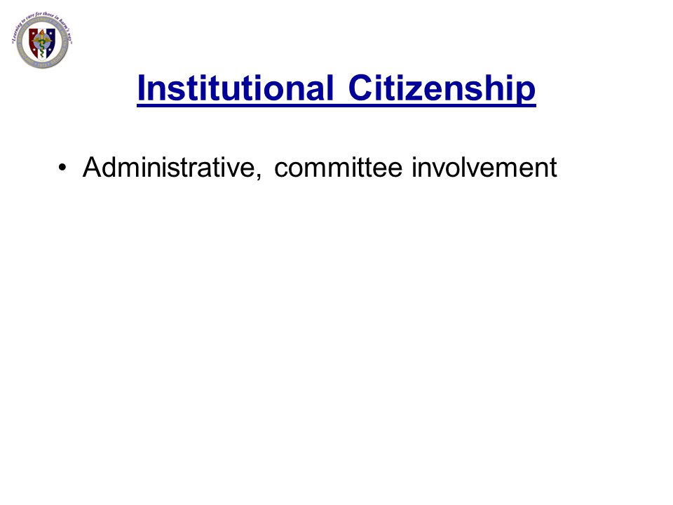 Institutional Citizenship