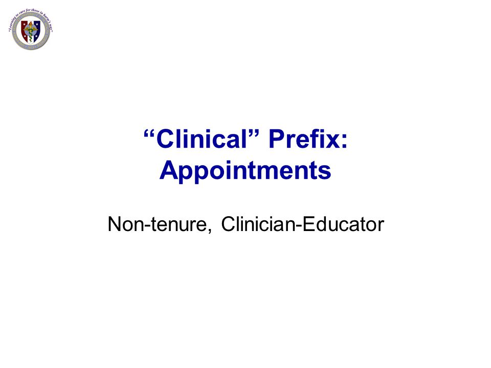 Clinical Prefix: Appointments