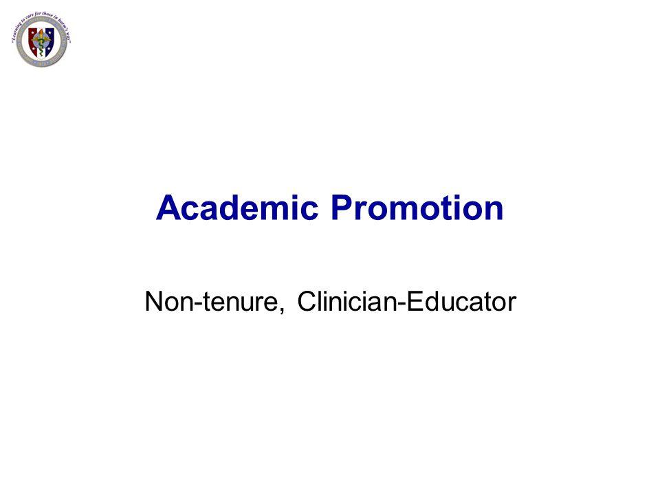 Non-tenure, Clinician-Educator