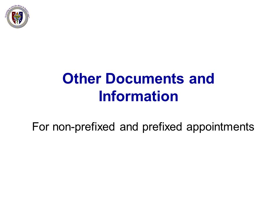 Other Documents and Information