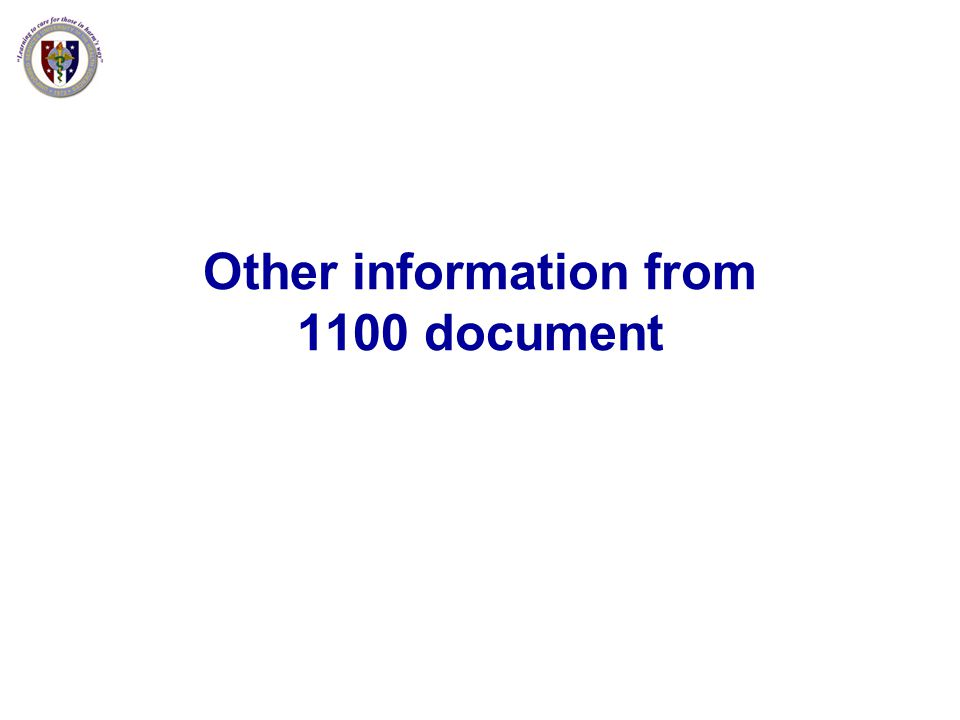 Other information from 1100 document