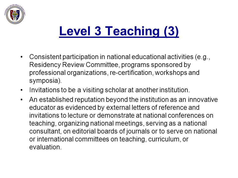 Level 3 Teaching (3)