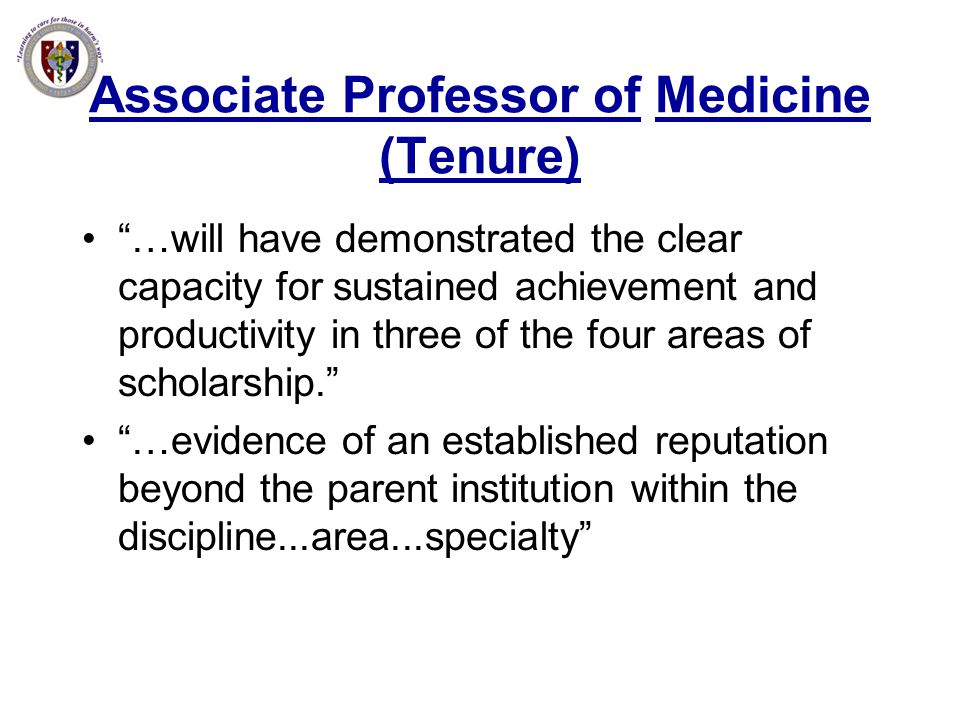 Associate Professor of Medicine (Tenure)