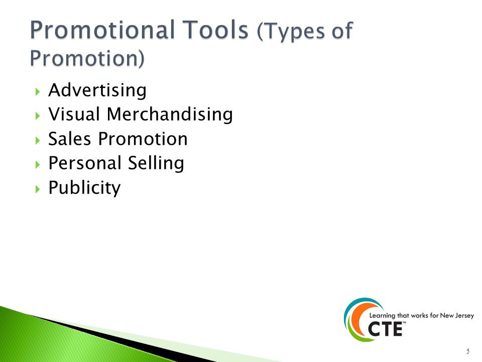 Promotional Tools (Types of Promotion)