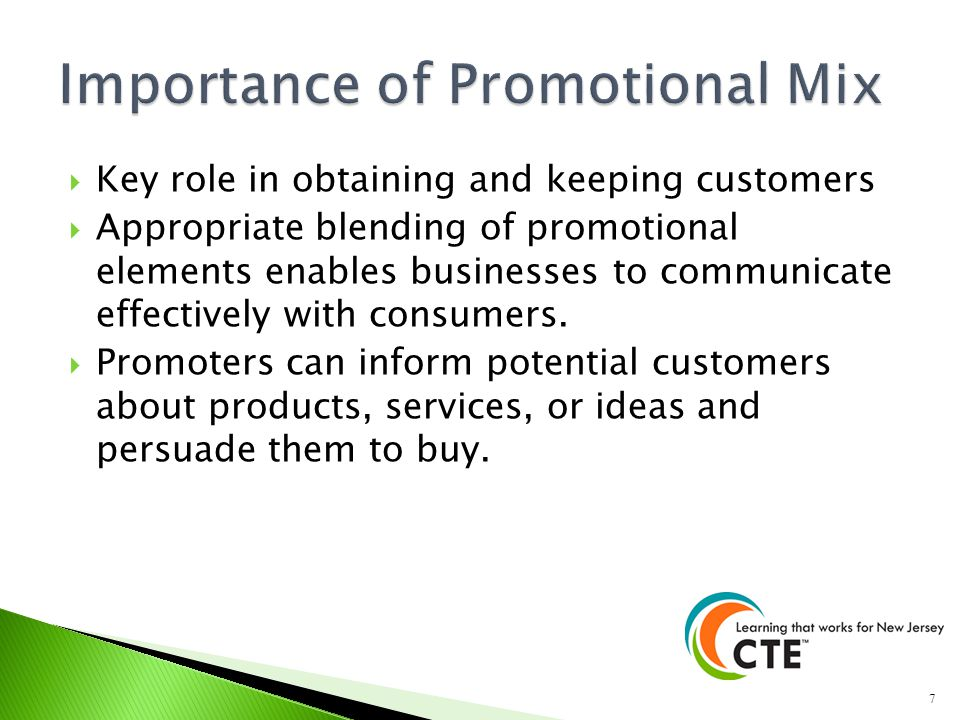 Importance of Promotional Mix