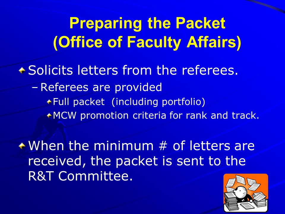 Preparing the Packet (Office of Faculty Affairs)