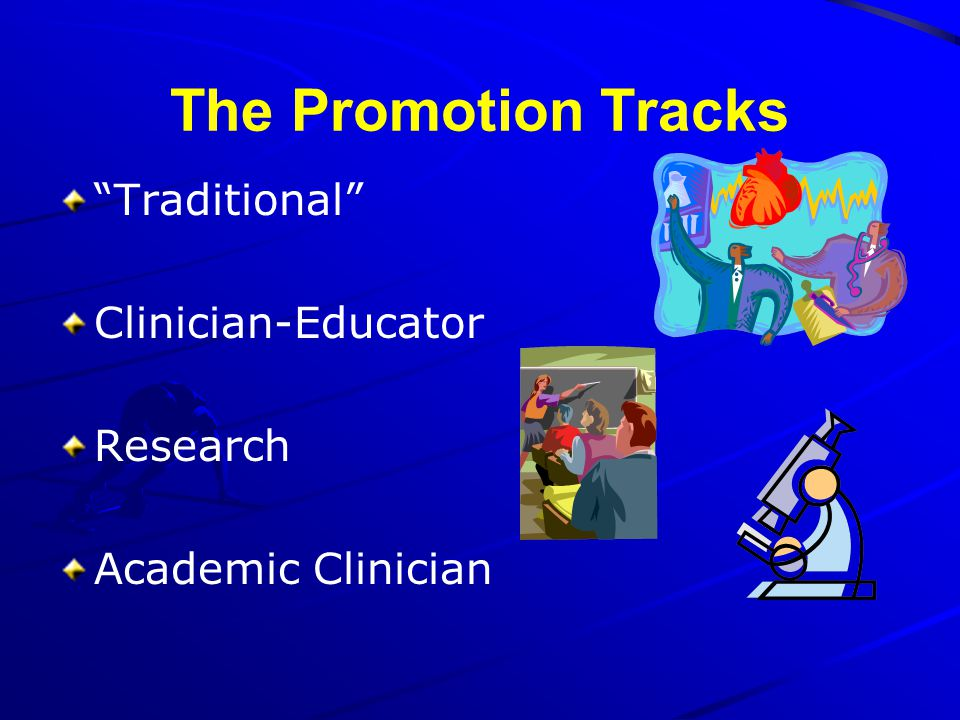 The Promotion Tracks Traditional Clinician-Educator Research