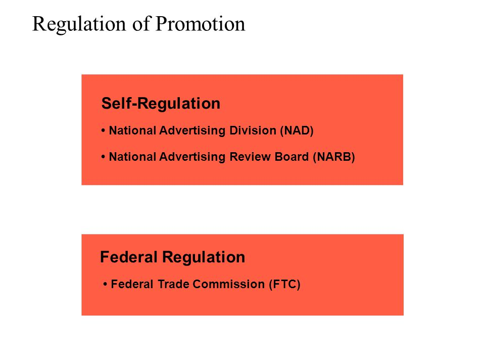 Regulation of Promotion