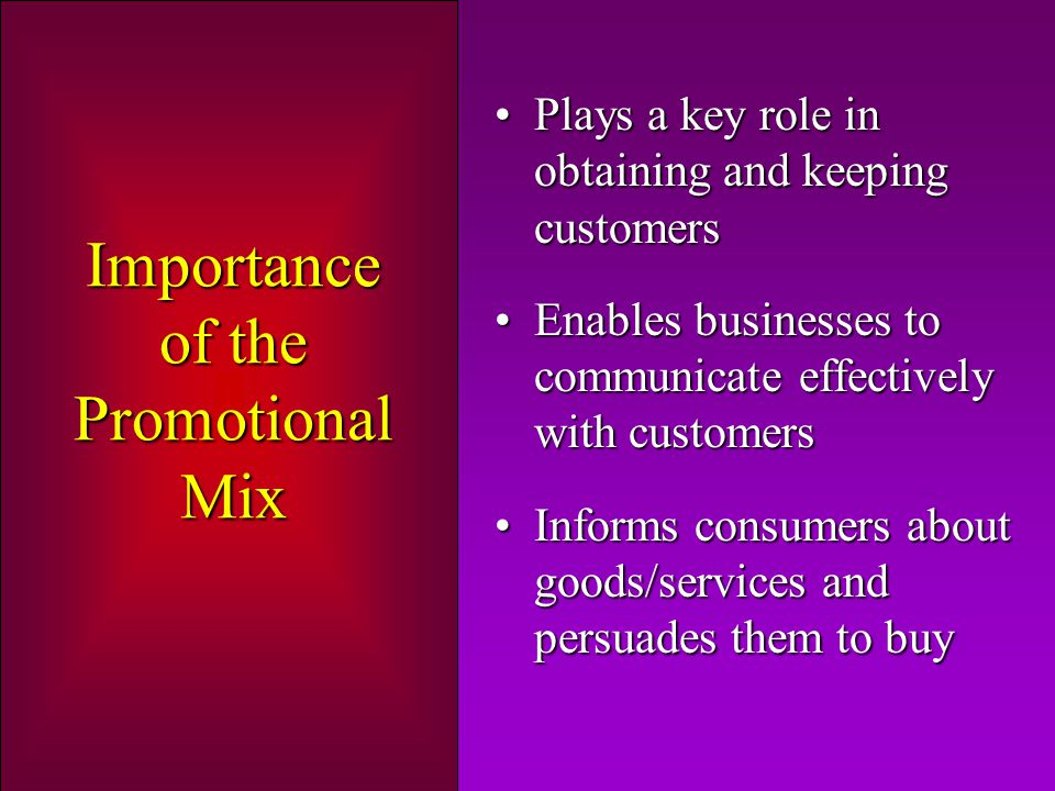 Importance of the Promotional Mix