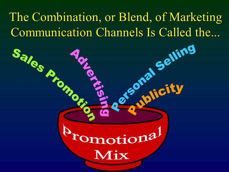 The Combination, or Blend, of Marketing Communication Channels Is Called the...