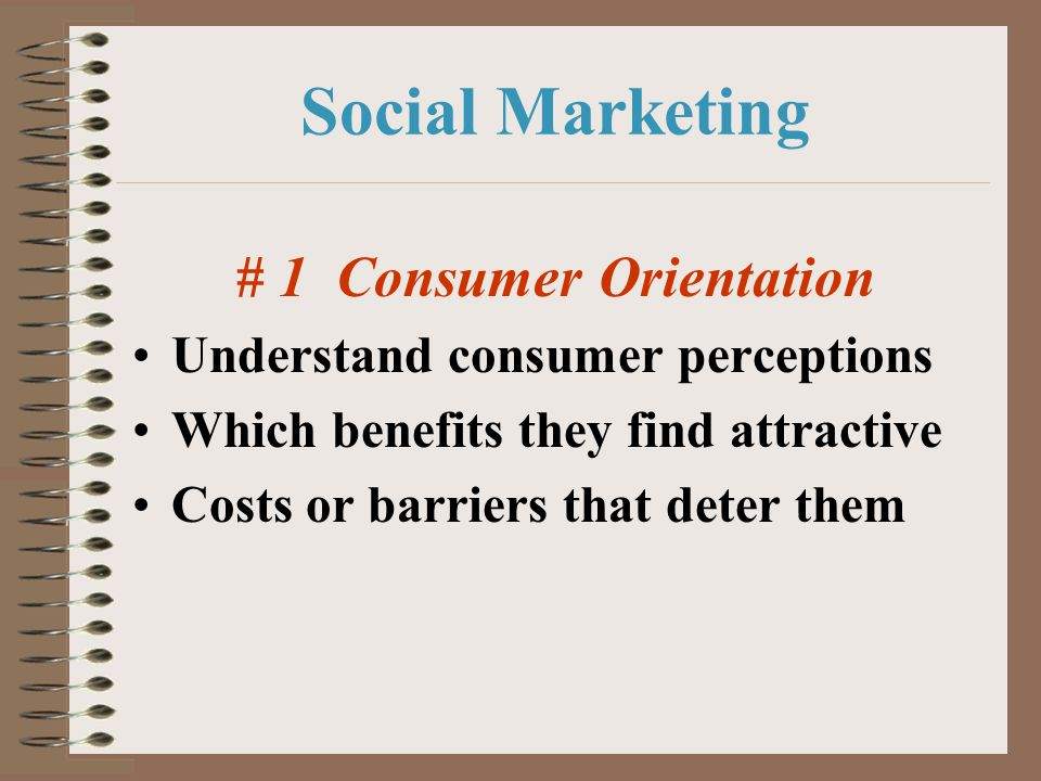 # 1 Consumer Orientation