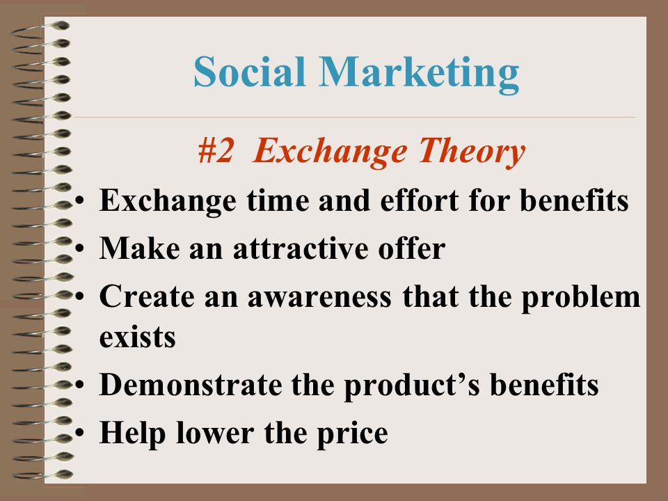 Social Marketing #2 Exchange Theory