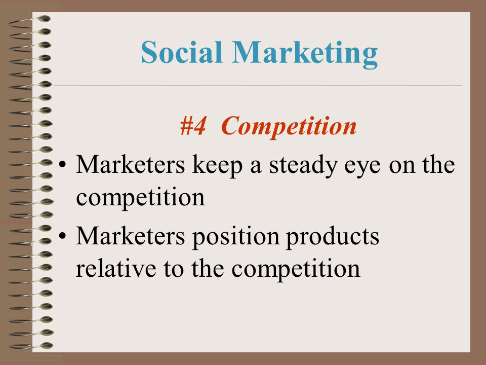 Social Marketing Marketers keep a steady eye on the competition