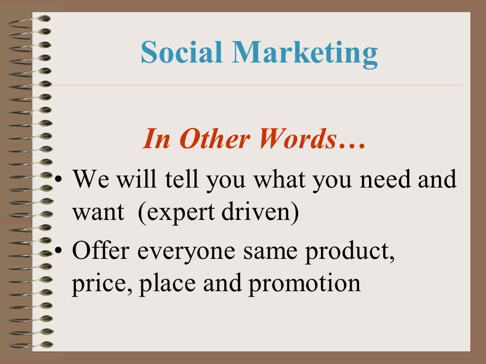 Social Marketing In Other Words…