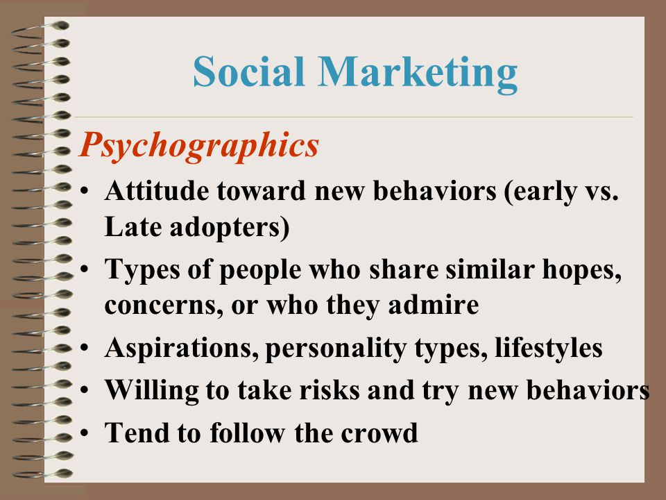Social Marketing Psychographics
