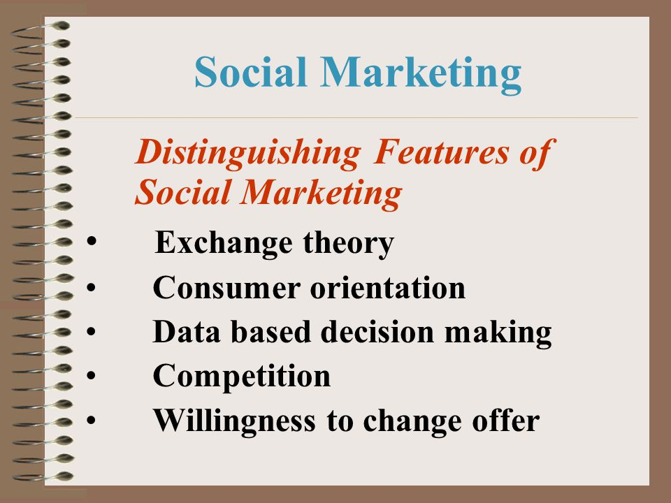 Social Marketing Exchange theory