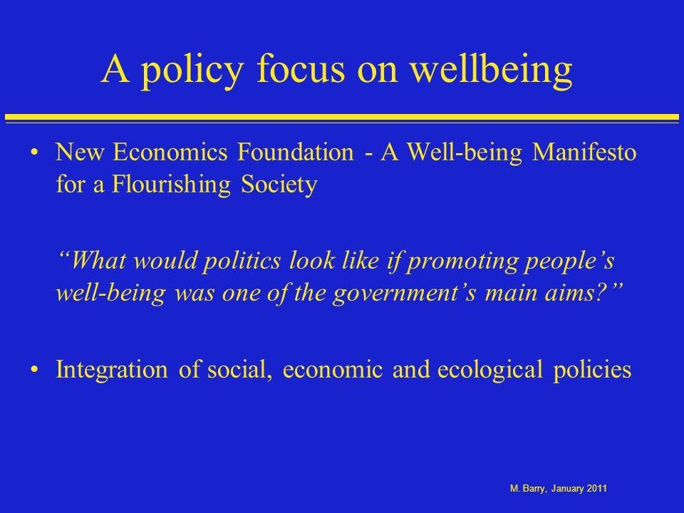 Economics of happiness and wellbeing