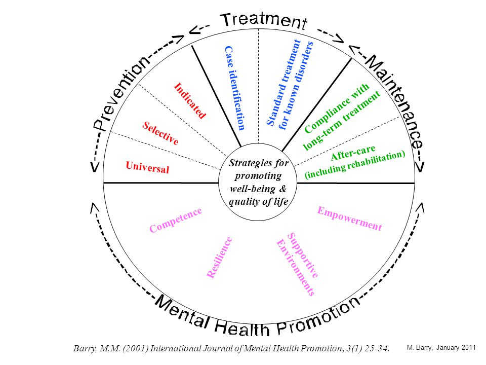 Generic principles of effective mental health promotion